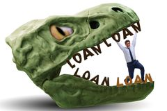 The businessman in the jaws of debt and loan. Businessman in the jaws of debt and loan stock photography