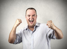 Businessman jubilating Royalty Free Stock Photo