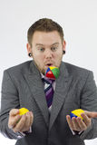 Businessman Juggling Stock Photo