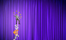 Businessman juggling with balls Royalty Free Stock Images