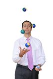 Businessman juggling his priorities