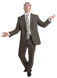 Businessman juggling invisible things Royalty Free Stock Images
