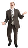 Businessman juggling invisible things Royalty Free Stock Photography