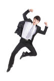Businessman jump Royalty Free Stock Image