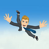 Businessman jump Stock Photography
