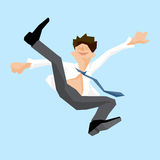 Businessman jump. Stock Photos