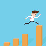 Businessman. Jump to success Royalty Free Stock Image