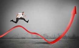 Businessman jump up Stock Images