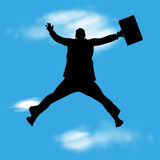 Businessman jump Stock Image