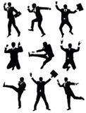 Businessman jumping. Royalty Free Stock Photos