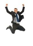 Businessman jumping Royalty Free Stock Photo