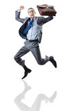 Businessman jumping Stock Photography