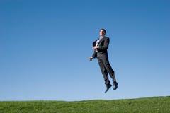 Businessman jumping Stock Photography
