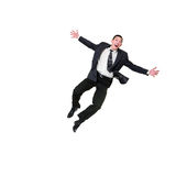 Businessman Jumping Royalty Free Stock Image