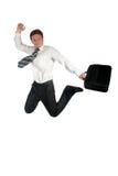 Businessman jumping royalty free stock photos