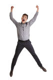 Businessman jumping in the air Stock Photography