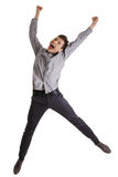 Businessman jumping in the air Stock Photos