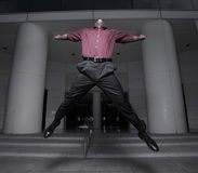 Businessman jumping for joy Stock Photography
