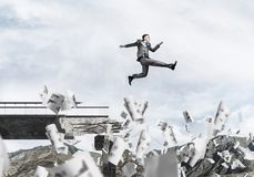 Problems and difficulties overcoming concept. Stock Photography