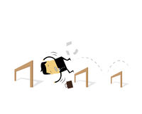 Businessman. Jumping over obstacles not Royalty Free Stock Photos
