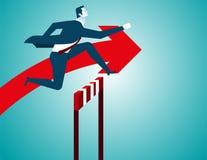 Businessman jumping Stock Photos
