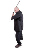 Businessman with katana Royalty Free Stock Images