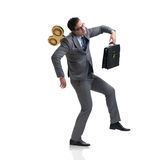 The businessman with key in hardworking concept Royalty Free Stock Images