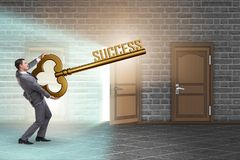 The businessman with key to success business concept Stock Image
