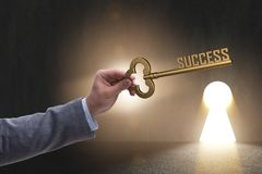 The businessman with key to success business concept Stock Photo