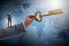 The businessman with key to success business concept Royalty Free Stock Image