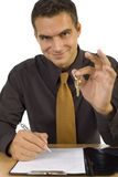 Businessman with keys Stock Image