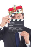 Businessman in king concept Royalty Free Stock Photos