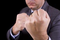 Businessman knockout Stock Photo