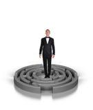 Businessman in labyrinth Stock Photos