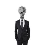 Businessman  with lamp head Royalty Free Stock Photography