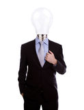 Businessman with lamp head have got an idea Royalty Free Stock Image