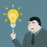 Businessman and lamp idea concept Stock Image