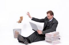 businessman laptop Στοκ Εικόνα