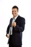 businessman with laptop  Stock Photos