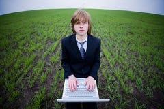 businessman laptop Στοκ εικόνα με δικαίωμα ελεύθερης χρήσης
