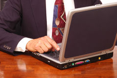 Businessman with Laptop Computer Royalty Free Stock Photo