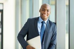 Businessman laptop computer Royalty Free Stock Photos