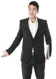 Businessman with a laptop Royalty Free Stock Images