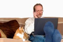 businessman laptop working Στοκ φωτογραφία με δικαίωμα ελεύθερης χρήσης
