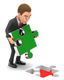 Businessman and the last puzzle Stock Photography