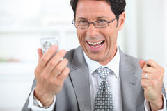 Businessman laughing Royalty Free Stock Photography