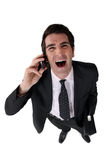 Businessman laughing out loud Royalty Free Stock Photography