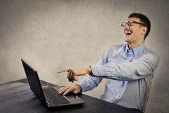 Businessman laughing Stock Photography
