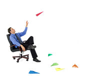 Businessman Launching New Ideas Royalty Free Stock Photography