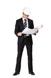 Businessman with layout Stock Photo